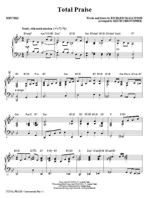 Total Praise - Rhythm (Choir Instrumental Pak)