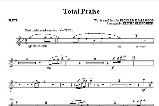 Total Praise - Flute Sheet Music