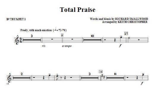 Total Praise - Bb Trumpet 1 Sheet Music