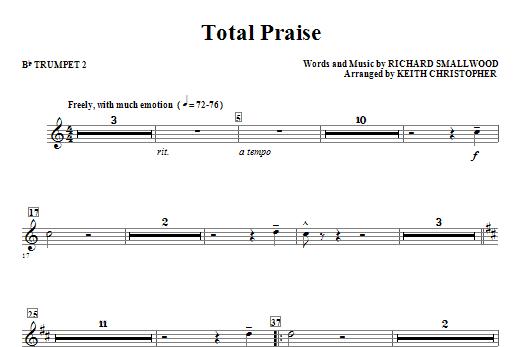Total Praise - Bb Trumpet 2 Sheet Music