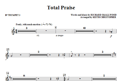 Total Praise - Bb Trumpet 3 Sheet Music