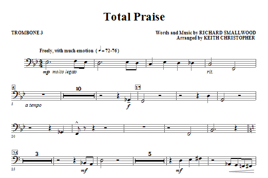 Total Praise - Trombone 3 (Choir Instrumental Pak)
