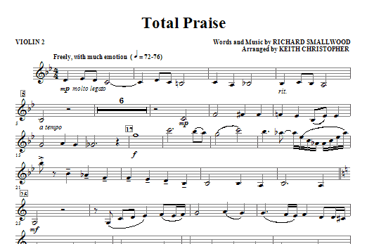 Total Praise - Violin 2 (Choir Instrumental Pak)