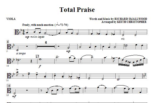 Total Praise - Viola Sheet Music