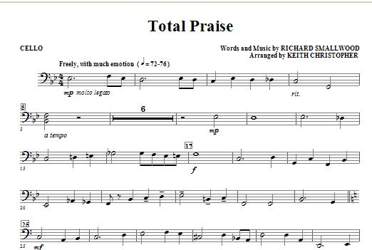 Total Praise - Cello Sheet Music