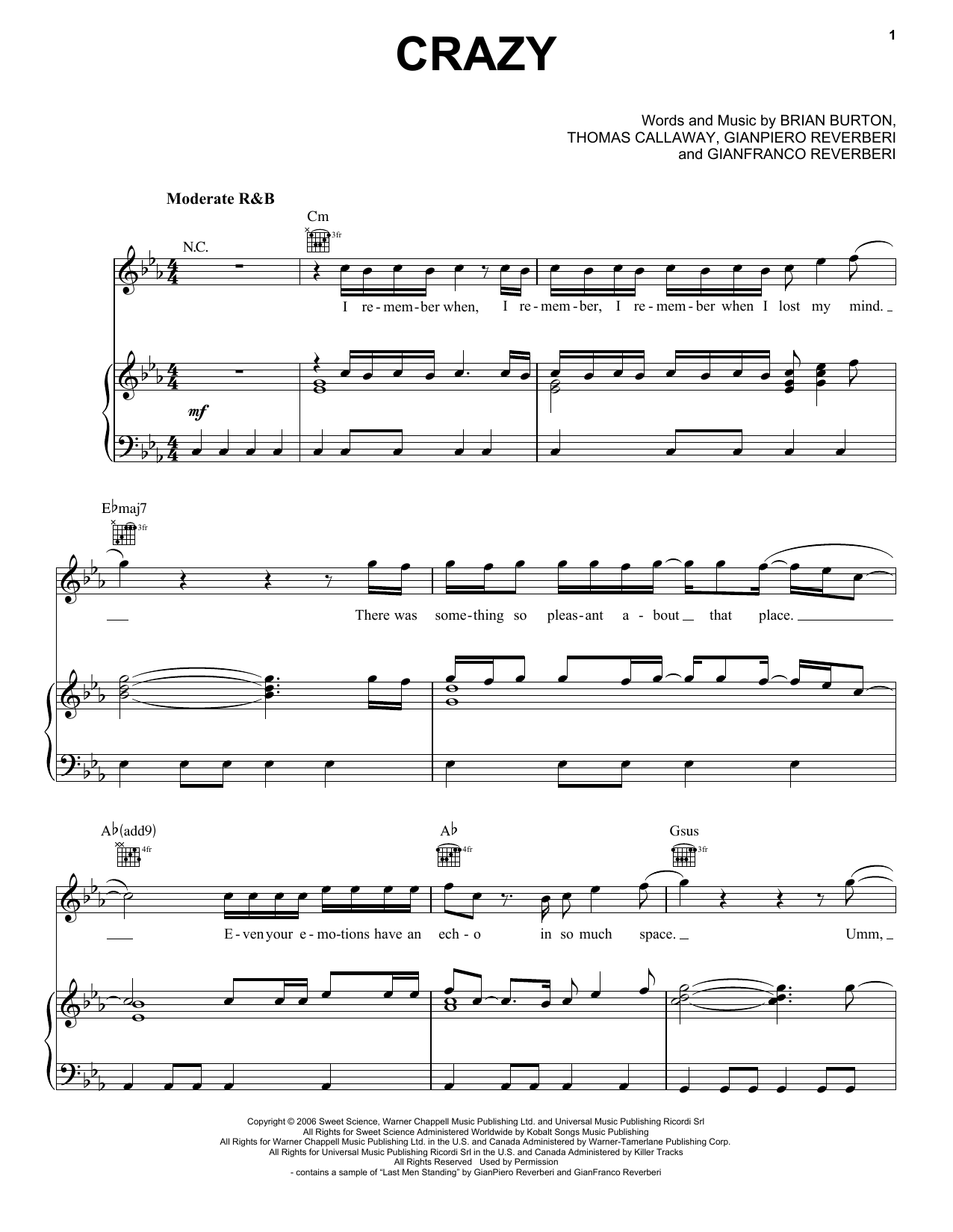Crazy Sheet Music Direct