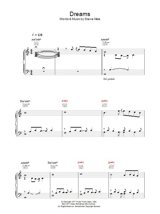 Dreams (Piano, Vocal & Guitar)