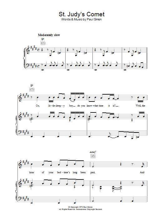 St. Judy's Comet Sheet Music