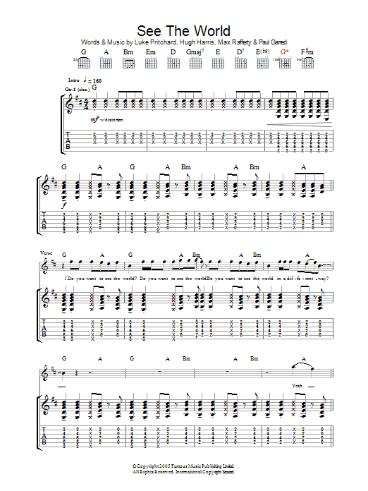 See The World (Guitar Tab)