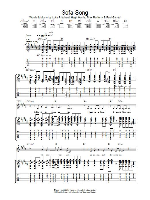 Sofa Song (Guitar Tab)