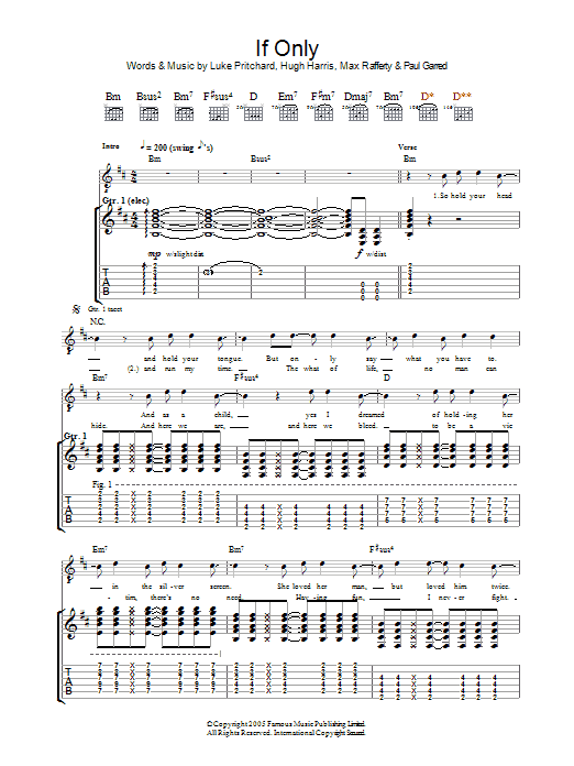 If Only Sheet Music
