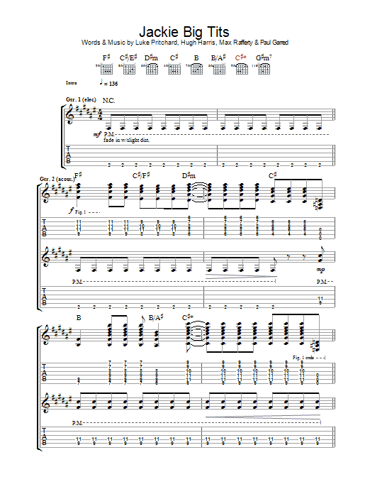 Jackie Big Tits Sheet Music