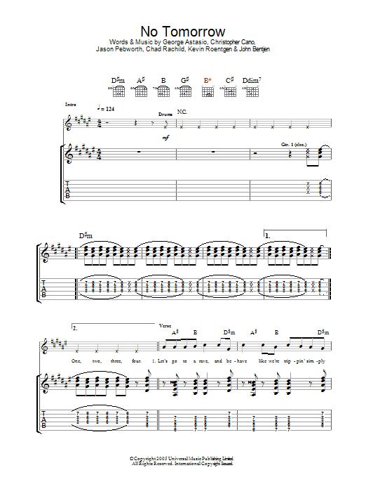 No Tomorrow (Guitar Tab)