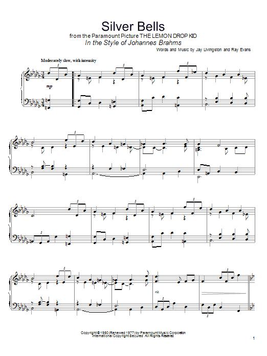 Partition piano Silver Bells de John Denver - Piano Solo