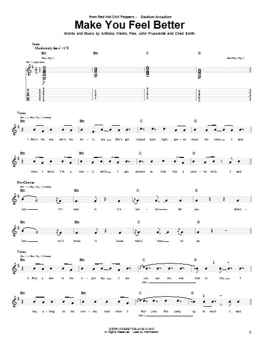 Make You Feel Better Sheet Music