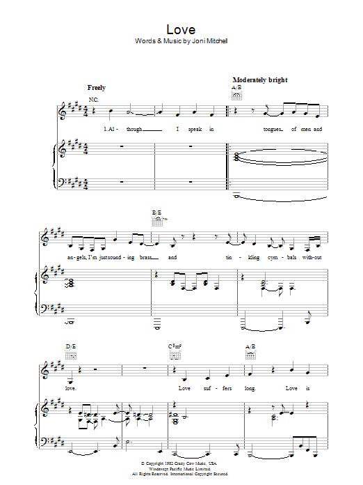 Love (Piano, Vocal & Guitar)