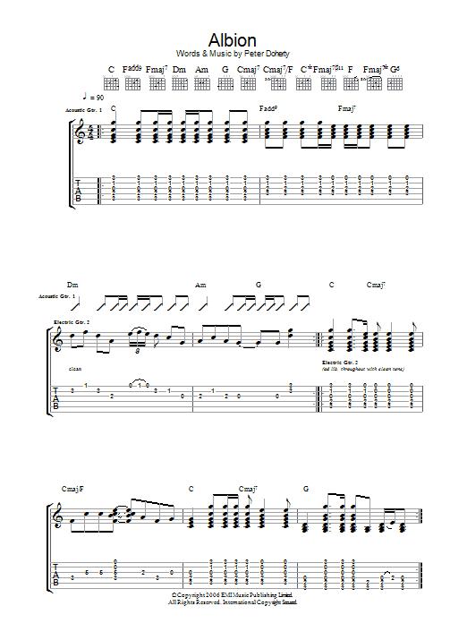 Albion Sheet Music