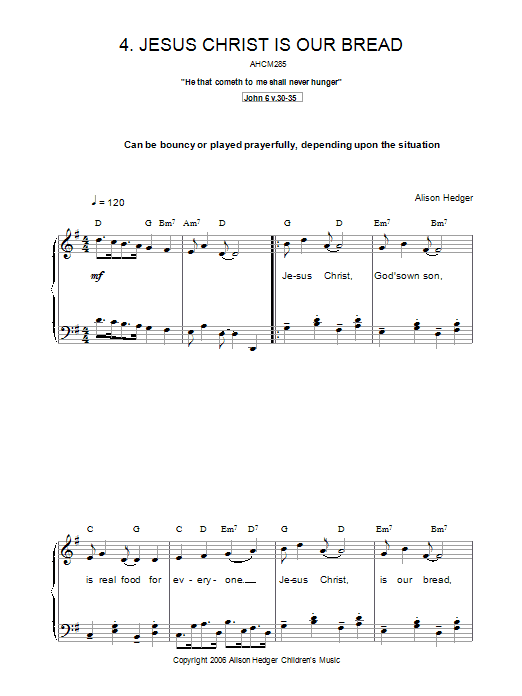 Jesus Christ Is Our Bread Sheet Music