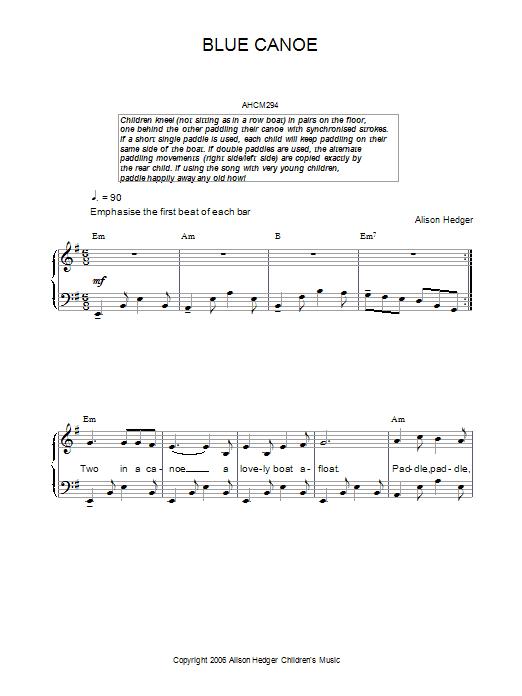 Blue Canoe Sheet Music