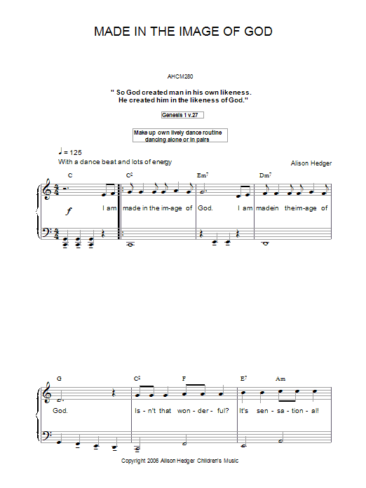 Made In The Image Of God (Piano, Vocal & Guitar)