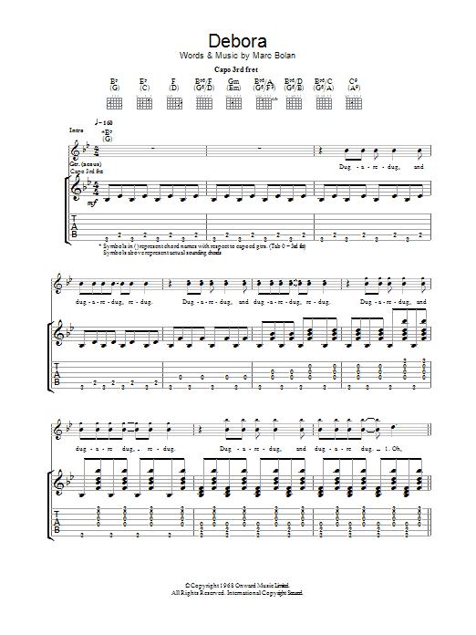 Debora (Guitar Tab)