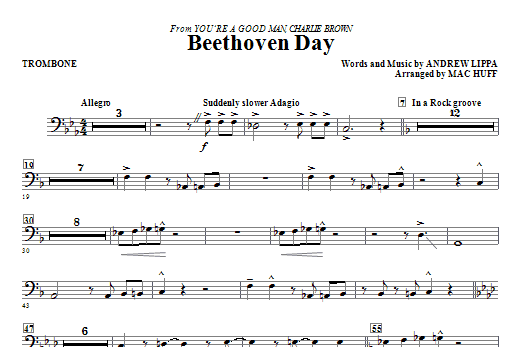 Beethoven Day - Trombone (Choir Instrumental Pak)