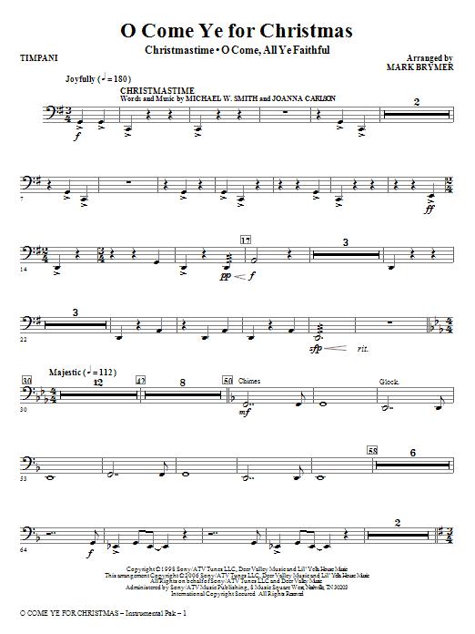 O Come Ye For Christmas (Medley) - Timpani Sheet Music