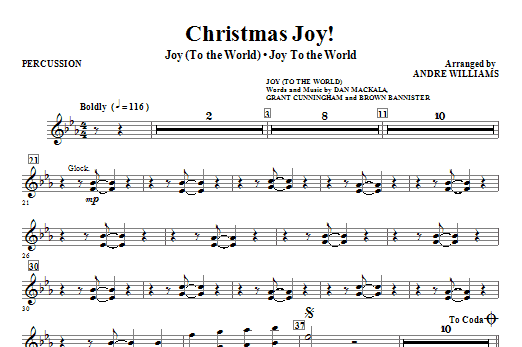 Christmas Joy! - Percussion Sheet Music