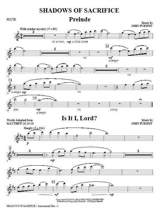 Shadows of Sacrifice - Flute Sheet Music