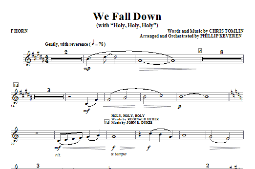 We Fall Down (with Holy, Holy, Holy) - F Horn Sheet Music