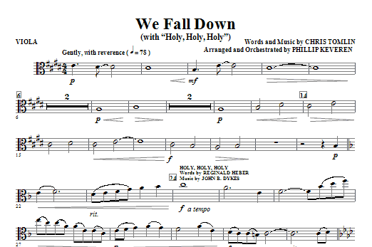 We Fall Down (with Holy, Holy, Holy) - Viola Sheet Music
