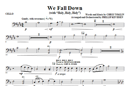 We Fall Down (with Holy, Holy, Holy) - Cello Sheet Music