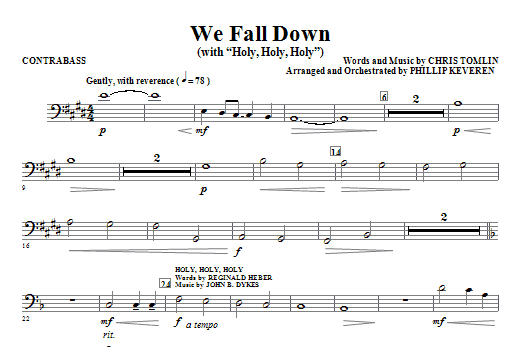 We Fall Down (with Holy, Holy, Holy) - Contrabass Sheet Music