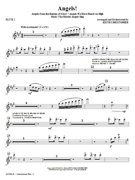 Angels! (Medley) - Flute 2 Sheet Music