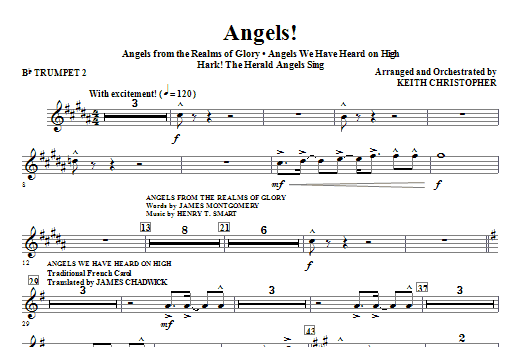 Angels! (Medley) - Bb Trumpet 2 Sheet Music
