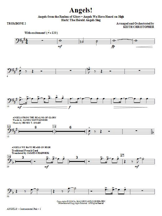Angels! (Medley) - Trombone 2 Sheet Music