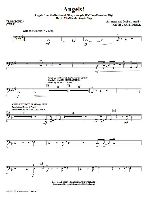 Angels! (Medley) - Trombone 3/Tuba Sheet Music