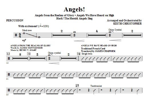 Angels! (Medley) - Percussion Sheet Music