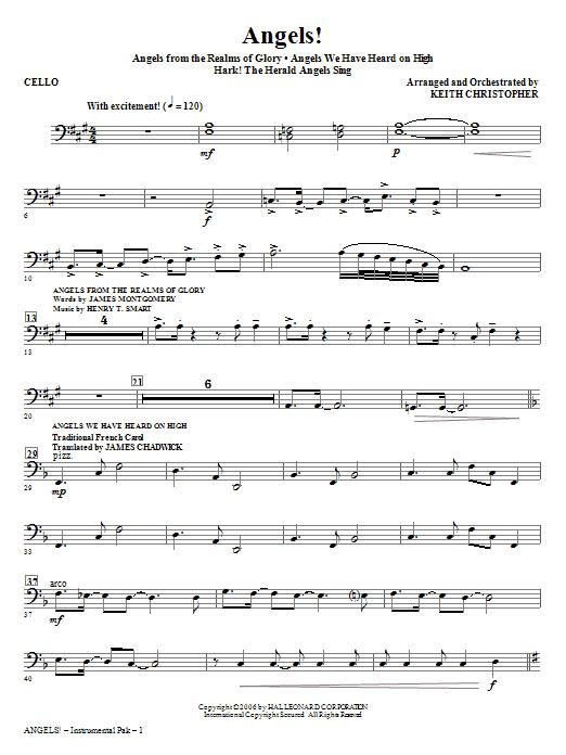 Angels! (Medley) - Cello Sheet Music