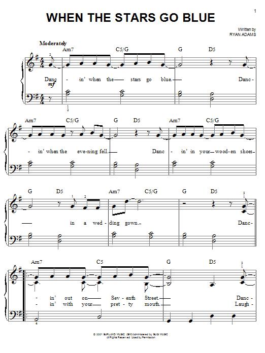 When The Stars Go Blue (Easy Piano)