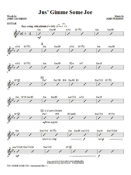 Jus' Gimme Some Joe! - Guitar