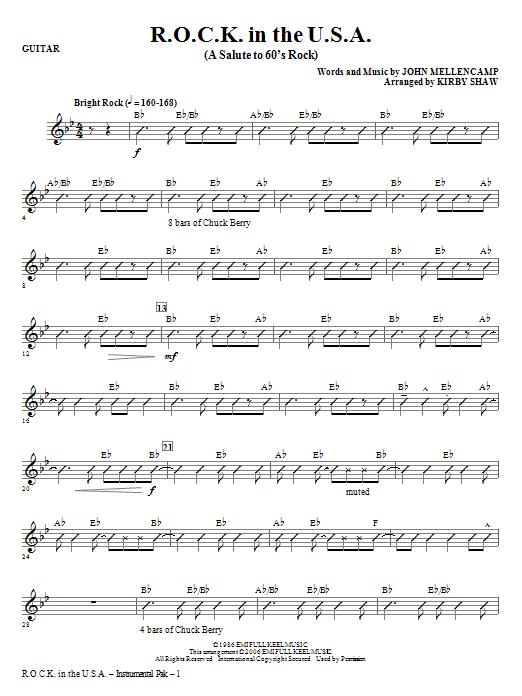 R.O.C.K. In The U.S.A. (A Salute To 60's Rock) - Guitar Sheet Music