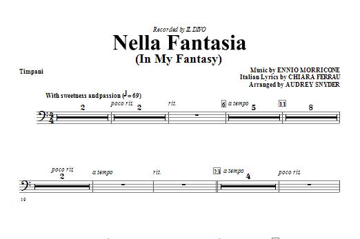 Nella Fantasia (In My Fantasy) - Timpani Sheet Music