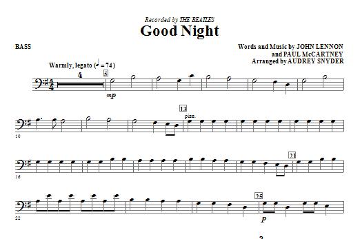 Good Night - Bass Sheet Music