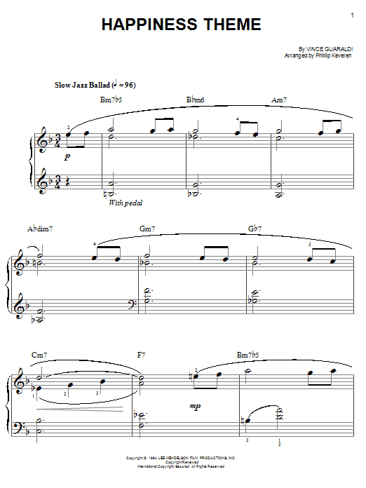 The Vince Guaraldi Collection - arr. Phillip Keveren The Phillip Keveren Series Easy Piano by Vince Guaraldi