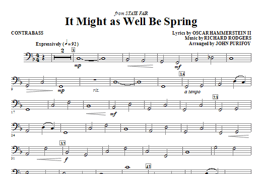 It Might As Well Be Spring - Contrabass (Choir Instrumental Pak)