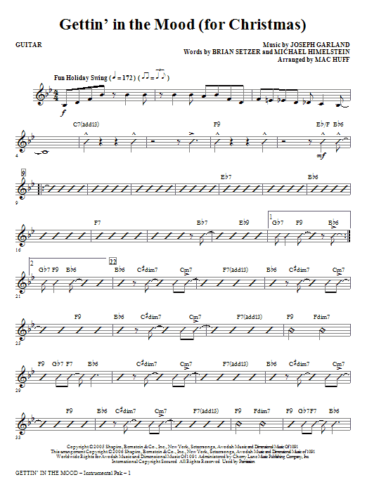 Gettin' In The Mood - For Christmas - Guitar Sheet Music