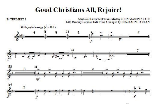 Good Christians All, Rejoice! - Bb Trumpet 2 Sheet Music
