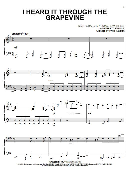 I Heard It Through The Grapevine (Piano Solo)