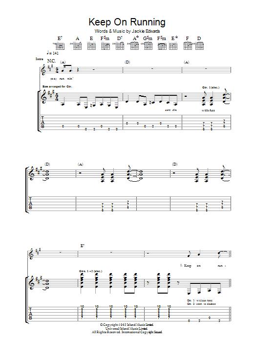 Keep On Running (Guitar Tab)